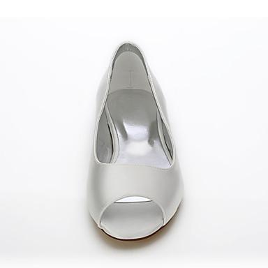 amp; Mariage mariage Evénement 05815686 Chaussures Dyeable Soie Plat Talon de Eté Chaussures Printemps Ivoire Confort Soirée Bout rond Chaussures Bout ouvert Femme xRzwHTqB1