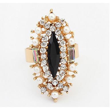 Dámské Široké prsteny Prsten Imitace perly Syntetický diamant Základní design Jedinečný design Logo Perla Odolné Spojené státy Módní
