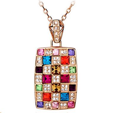 Mulheres Outros Forma Geométrica Forma Personalizada Luxo Original Com Logotipo Pingente Diamante de acrílico Clássico Boêmio Básico