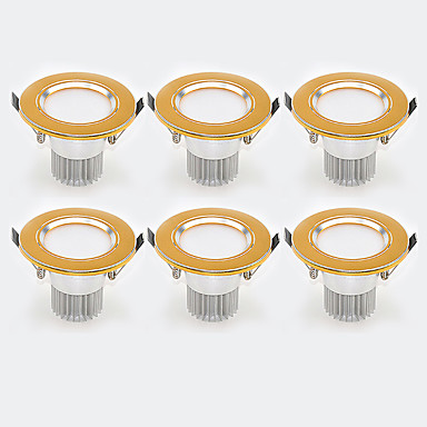 3 W lm 6 Contas LED Instalação Fácil / Encaixe Downlight de LED Branco Quente / Branco Frio 85-265 V Lar / Escritório / Quarto de Criança / Cozinha / 6 pçs / CE