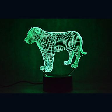 1 Pça. Luz noturna 3D USB Sensor / Regulável / Impermeável LED / Moderno / Contemporâneo