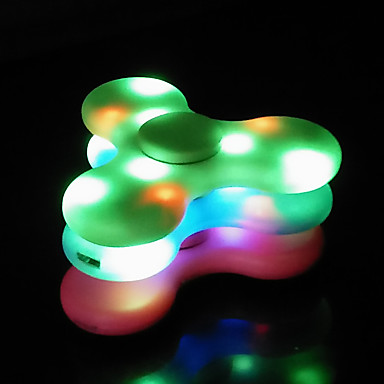 Spinner Speaker Exterior Micro USB Bluetooth Mini Luz LED Bluetooth 4.0 Alto-Falante Bluetooth Sem Fio Verde Branco Rosa escuro Azul LED