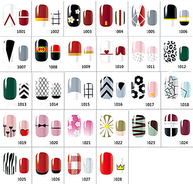 1pcs 프랑스어 팁 가이드 네일 스탬핑 템플릿 일상 패션