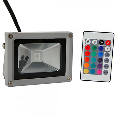 abordables Éclairage Extérieur-HKV 10W Projecteurs LED Ajustable Installation Facile Imperméable Eclairage Extérieur Garage/Abri d'Auto Pièce de Rangement/Cellier RVB