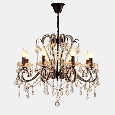 Lightmyself™ 8-light Lampadari Luce Ambientale Finiture Verniciate Metallo Cristallo, Con Led 110-120v - 220-240v Lampadine Non Incluse - E12 - E14 #05782947 Sii Amichevole In Uso