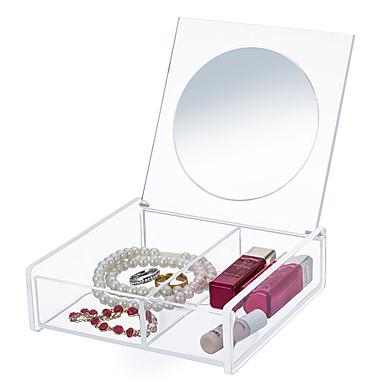 Acessórios para Maquiagem Armazenamento de Maquilhagem Espelho de Maquilhagem Maquiagem Acrílico Quadrada Diário Cosmético Artigos para Banho & Tosa