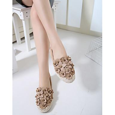 여성용 발 뒤꿈치 편안한 캐주얼 아몬드 블랙