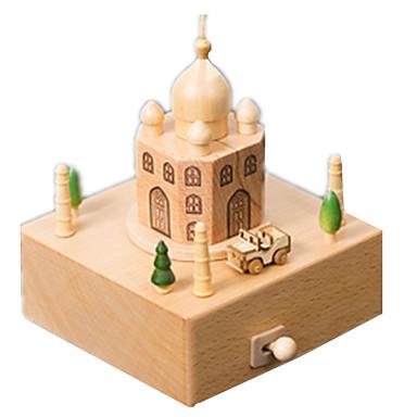 voordelige 3D-puzzels-Muziekdoos Modelbouwsets Houten modellen Carrousel Merry Go Round Taj Mahal Schattig Hout Kinderen Volwassenen Unisex Jongens Meisjes Speeltjes Geschenk