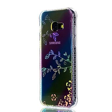 Capinha Para Samsung Galaxy A5(2017) A3(2017) Antichoque Galvanizado Translúcido Estampada Capa traseira Flor Macia TPU para A3 (2017) A5