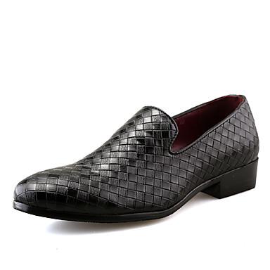 Homens Sapatos formais Couro Sintético Primavera / Outono Oxfords Caminhada Preto / Prata / Vermelho / Casamento / Festas & Noite