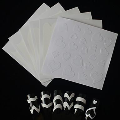 6pcs Furador de Manicure Diecut Etiquetas de unhas 3D Modelo de estampa de unhas Diário Fashion Alta qualidade