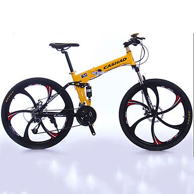 Bicicleta de Montaña / Bicicletas plegables Ciclismo 27 Velocidad 26 pulgadas / 700CC Shimano Doble Disco de Freno Horquilla de suspención Doblez Ordinario Aluminio