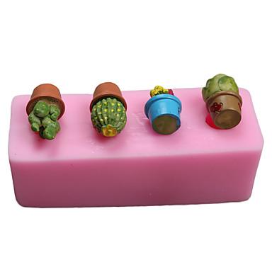 Ferramentas bakeware Silicone Amiga-do-Ambiente / Anti-Aderente / Férias Bolo / Chocolate / para Candy Molde 1pç