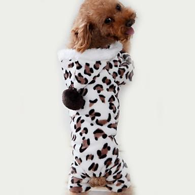 Kat Hund Kjeledresser Pyjamas Hundeklær Leopard Brun Polar Fleece Kostume For kjæledyr Herre Dame Søtt Fritid/hverdag