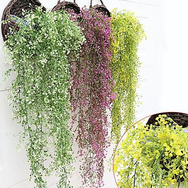 Flores artificiais 1 Ramo Pastoril Estilo Plantas Cesto Flor