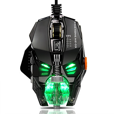 USB com fio Mouse para Jogos Óptico MZ03 7 pcs chaves Luz RGB 4 níveis de DPI ajustáveis 8 teclas programáveis 500/1000/2000/4000 dpi