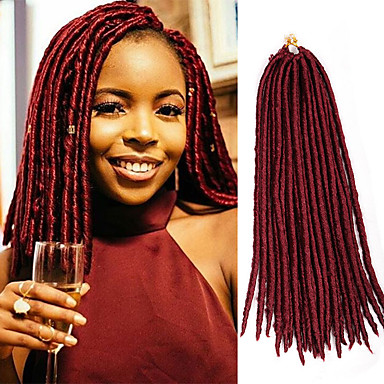 Χαμηλού Κόστους Εξτένσιον-Μαλλιά για πλεξούδες Με βελονάκι / Αβάνα Dread Locks / Dreadlocks / Faux Locs 100% μαλλιά kanekalon / Kanekalon 24 ρίζες / πακέτο μαλλιά Πλεξούδες Επέκταση Dreadlock