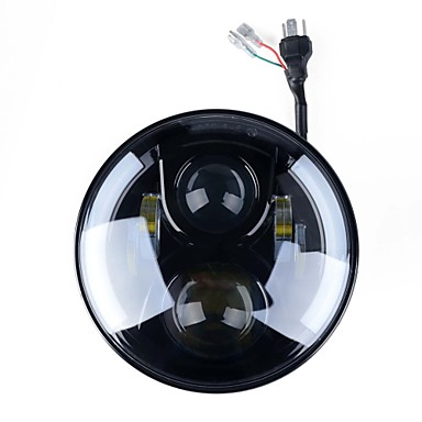 Kawell 7palcová kulatá světla pro harley davidsion motorcycle daymaker s angel eye drl led projekční světlomet pro jeep aplikace