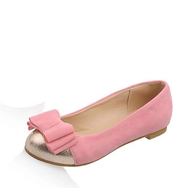 Mulheres Sapatos Courino Primavera Verão Conforto Rasos Sem Salto Ponta Redonda Laço Combinação para Casual Escritório e Carreira Social