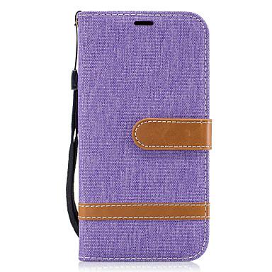 Capinha Para Samsung Galaxy A5(2017) A3(2017) Porta-Cartão Carteira Com Suporte Flip Capa Proteção Completa Linhas / Ondas Rígida Têxtil
