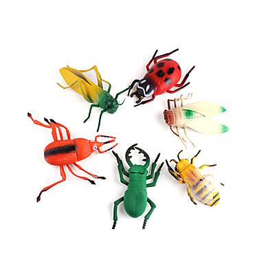Modelos de exibição Brinquedos Animal Plástico PVC 6 Peças