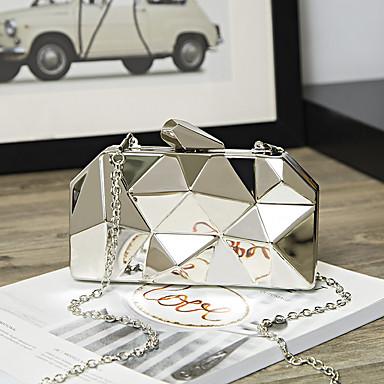 povoljno Clutch i večernje torbice-Žene Lanac Večernja torbica Legura Jednobojni Zlato / Sillver Gray