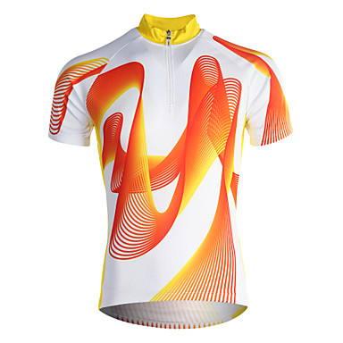 Jaggad Cyklodres Pánské Krátké rukávy Jezdit na kole Dres Vrchní část oděvu Rychleschnoucí Prodyšné Polyester Coolmax Patchwork Jaro Léto