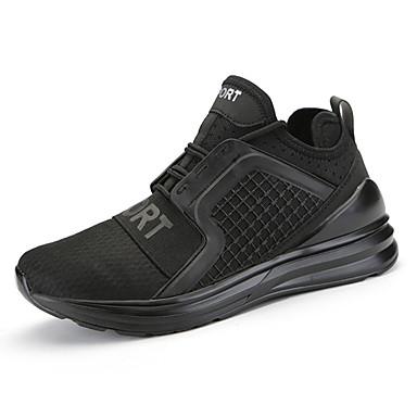 Pánské Obuv Látka Léto Podzim Pohodlné Atletické boty Běh Šněrování pro Sportovní Ležérní Venkovní Bílá Černá Šedá Červená