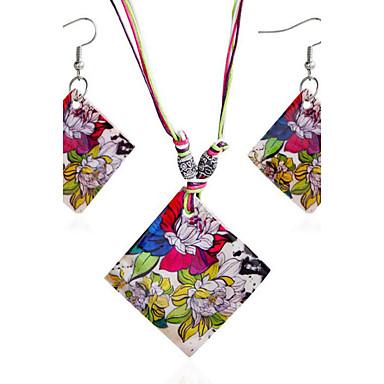 للمرأة مجموعة مجوهرات - قشرة بوهيميان, بوهو تتضمن اطقم ذهب و مجوهرات التقزح اللوني من أجل هدية / يوميا / فضفاض