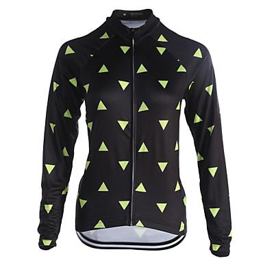 Fastcute Heren / Dames Lange mouw Wielrenshirt Fietsen Shirt, Sneldrogend, Ademend, Reflecterende strips Coolmax® / Rekbaar / SBS ritsen / Zweetafvoerend