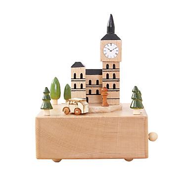 Caixa de música Madeira Castelo Casa Presente Unisexo Dom