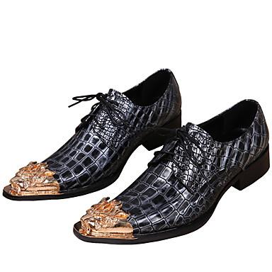 Homens Sapatos formais Pele Napa Primavera / Outono Oxfords Dourado / Festas & Noite / Festas & Noite / Ao ar livre