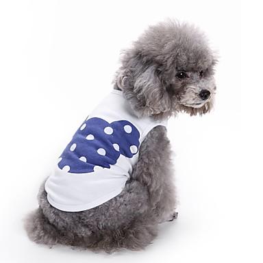 Gato Cachorro Camiseta Colete Roupas para Cães Desenho Animado Laranja Azul Rosa claro Algodão Ocasiões Especiais Para animais de