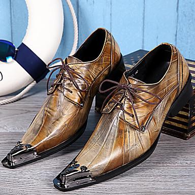 Homens Sapatos formais Pele Napa Primavera / Outono Sapatos formais Oxfords Dourado / Festas & Noite / Sapatas de novidade