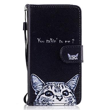 Capinha Para Samsung Galaxy A5(2017) A3(2017) Porta-Cartão Carteira Com Suporte Flip Magnética Estampada Capa Proteção Completa Gato