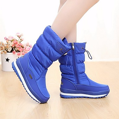 Naiset Kengät Mokkanahka Tyll Kevät Comfort Bootsit Käyttötarkoitus Kausaliteetti Musta Sininen