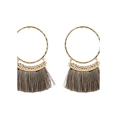 Women's Tassel Drop Earrings - Personalized, Tassel, Fashion Gray / Red / Dark Red For Wedding / Anniversary / Housewarming
