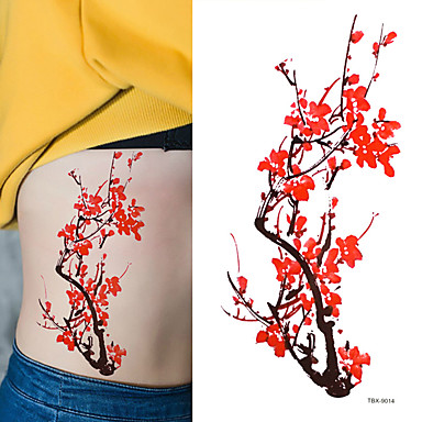 Tetovací nálepky Květinová řada Non Toxic Waterproof Dámské Pánské Dospívající Flash Tattoo dočasné tetování