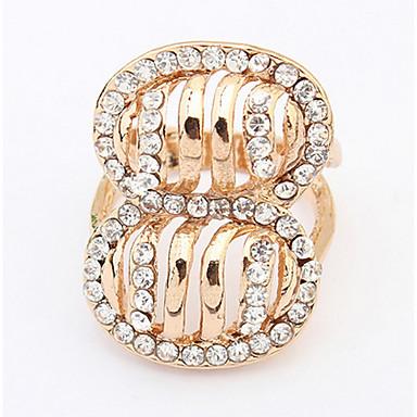 Pánské Dámské Prsten imitace drahokamu Přizpůsobeno Luxus Jedinečný design Logo Klasické Vintage Cikánské Základní Bižuterie Cute Style