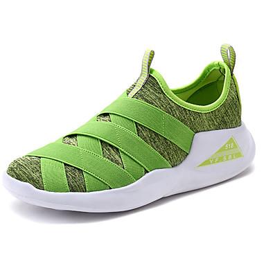 Mulheres Sapatos Borracha Primavera Outono Conforto Tênis Sem Salto Ponta Redonda Cadarço para Ao ar livre Preto Vermelho Verde Azul