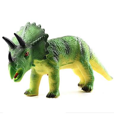 Dragões & Dinossauros Brinquedos Figuras de dinossauro Dinossauro jurássico Triceratops Tiranossauro Rex Plástico Crianças Peças