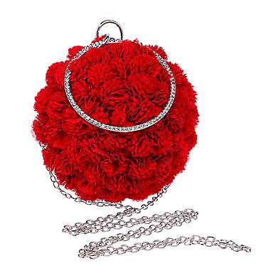 Mulheres Bolsas Poliéster Tote Flor Vermelho / Rosado