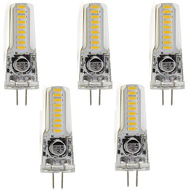 5pçs 3 W 400 lm Luminárias de LED  Duplo-Pin T 18 Contas LED SMD 3014 Branco Quente / Branco Frio 85-265 V / 5 pçs