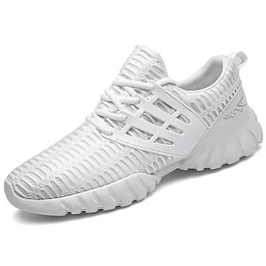 Homens sapatos Tule Primavera Outono Tênis Corrida Combinação para Branco Preto Azul