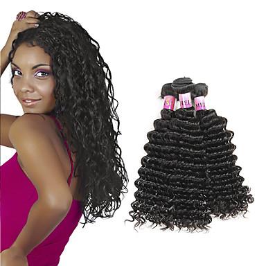 Hiukset kutoo Brasilialainen Syvät aallot 1 vuosi 3 osainen hiukset kutoo