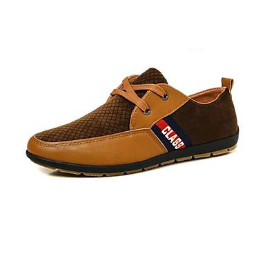 Miehet kengät PU Kevät Comfort Lenkkitossut Käyttötarkoitus Kausaliteetti Keltainen