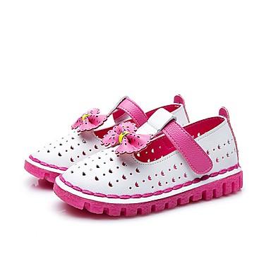 Tyttöjen kengät Tekonahka Kesä Syksy Comfort Sandaalit Kävely Ruseteilla varten Kausaliteetti Valkoinen Persikka Pinkki