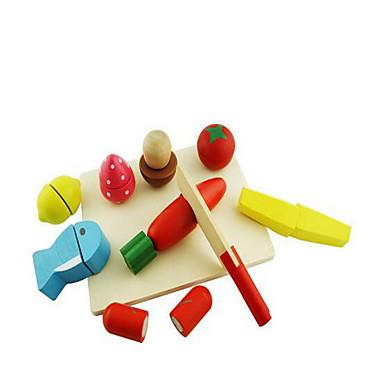 Comida de Brinquedo Brinquedos de Faz de Conta Brinquedos Cortadores de Frutas e Vegetais Frutas e Vegetais Madeira Crianças Dom 1pcs