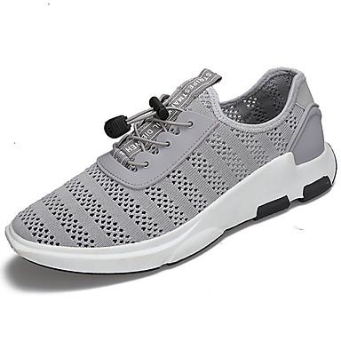 Homens sapatos Tule Primavera Verão Tênis Corrida Cadarço para Preto Cinzento