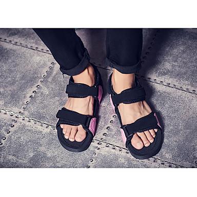 Herren Schuhe PU Frühling Komfort Sandalen Für Normal Schwarz Schwarz/weiss